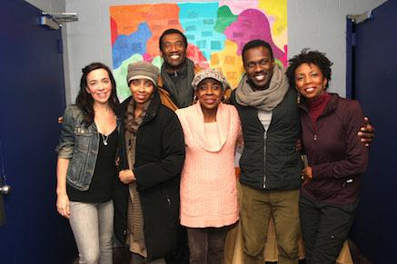 Finnerty Steeves, Libya V. Pugh, Robert McKay, Marjorie Johnson, Joshua Henry and Sharon Washington. Photo by Lia Chang
