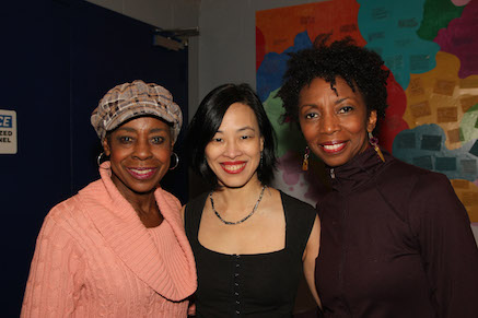 Marjorie Johnson, Lia Chang and Sharon Washington. Photo by Garth Kravits