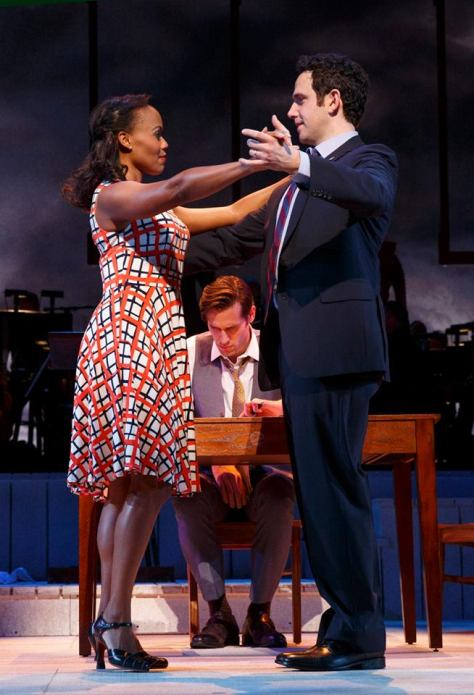 Nikki Renée Daniels (Martha Jefferson), and Santino Fontana (John Adams). Photo by Joan Marcus.