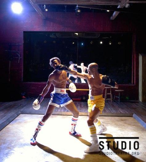 Sheldon Best and Emmanuel Brown in Studio Theatre's production of Roy Williams SUCKERPUNCH (2012). Photo: Scott Suchman.