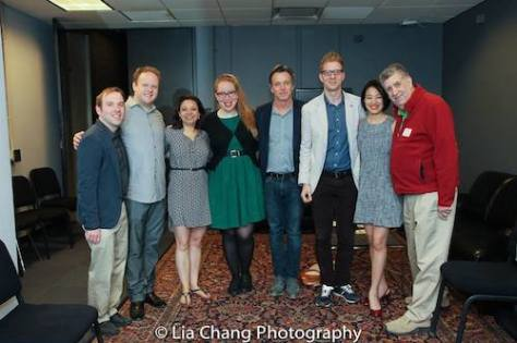 Doug Reside, Matt Britten, Jen Bender, Jennifer Ashley Tepper, Derek McLane, Lorenzo Thione, Lia Chang and Elliott Masie. Photo by Garth Kravits