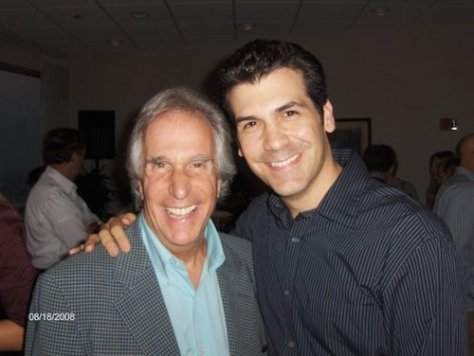 Henry Winkler and Joey Sorge. Photo courtesy of Joey Sorge/Facebook