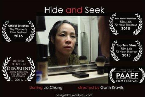 Hide and Seek Postcard red