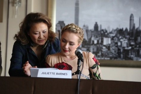 """Director Lily Mariye and Hayden Panettiere as Juliette Barnes on ABC's """"Nashville"""". Photo courtesy of Lily Mariye"""