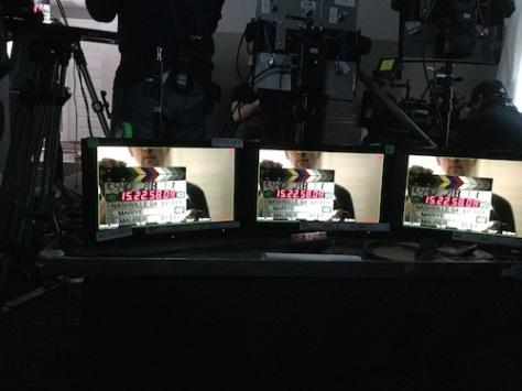 """On the set of """"Nashville"""". Photo credit: Lily Mariye"""