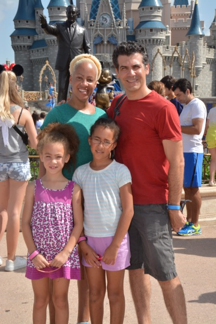 Joey Sorge with wife, Lori Alexander and their two daughters, Sophia and Winona at Disney World in 2015. Photo courtesy of Joey Sorge