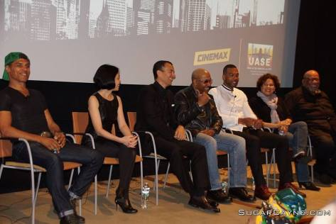 Taimak, Lia Chang, Vincent Lyn, Robert Samuels, Kinyumba Mutakabbir, Kelly Edwards and Mike Hodge. Photo courtesy of UASE