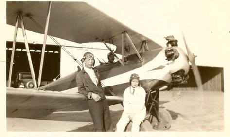 Biplane Katherine Sui Fun Cheung and Walter Chan with biplane photo courtesy of Dottie Leschenko.