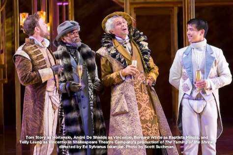 Tom Story, André De Shields, Bernard White and Telly Leung. Photo by Scott Suchman