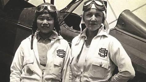 Ninety-Nines Members Photo of Katherine Sui Fun Cheung with Ethel Sheehy courtesy of Dottie Leschenko.