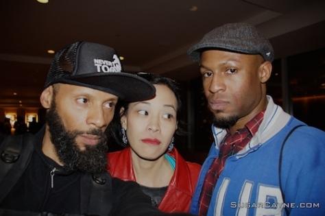 Al Cayne, Lia Chang and Manny Brown. Photo by Al Cayne/SugarCayne.com