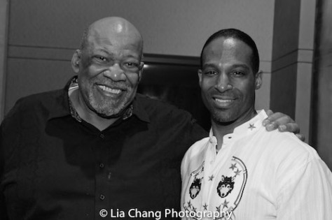 Mike Hodge and Demetrius Angelo at The Urban Action Showcase & Expo's premiere screening of Owen Ratliff's BLACK SALT at HBO in New York on April 27, 2016. Photo by Lia Chang