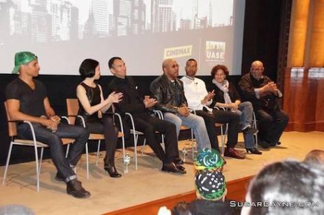 Taimak, Lia Chang, Vincent Lyn, Robert Samuels, Kinyumba Mutakabbir, Kelly Edwards and Mike Hodge. Photo by Al Cayne/SugarCayne.com