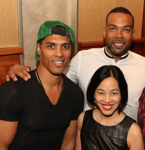 Taimak, Lia Chang and Kinyumba Mutakabbir attend The Urban Action Showcase & Expo's premiere screening of Owen Ratliff's BLACK SALT at HBO in New York on April 27, 2016. Photo by Lia Chang