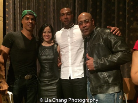 TaiMak, Lia Chang, Kinyumba Mutakabbir and Robert Samuels at The Urban Action Showcase & Expo's premiere screening of Owen Ratliff's BLACK SALT at HBO in New York on April 27, 2016.