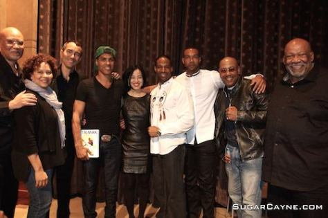 Warrington Hudlin, Kelly Edwards, Vincent Lyn, Taimak, Lia Chang, Demetrius Angelo, Kinyumba Mutakabbir, Robert Samuels and Mike Hodge. Photo by Al Cayne/SugarCayne.com