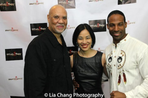 Warrington Hudlin, Lia Chang and Demetrius Angelo. Photo by Patrick Cashin