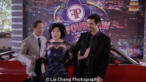 "(l-r) Ken Leung as Dr. Topher Zia, Elizabeth Sung as Sumei Zia and Eoin Macken as Dr. TC Callahan on NBC's ""The Night Shift""."
