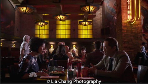 """(l-r) Elizabeth Sung as Sumei Zia and Ken Leung as Topher Zia on NBC's """"The Night Shift""""."""