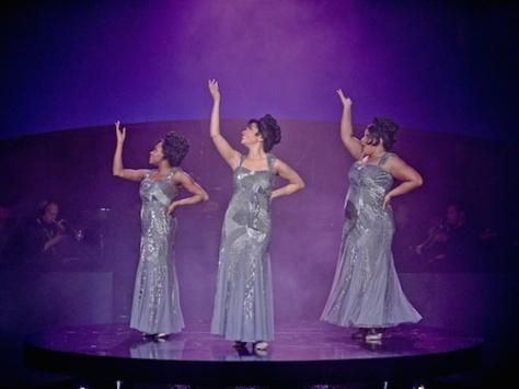 Kristen Bond, Alexis Sims and Marisha Wallace in Dreamgirls. Photo by Karen Almond