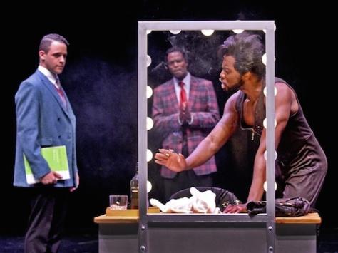 Clinton Greenspan as C.C., Derrick Davis as Curtis Taylor Jr., and Eric LaJuan Summers as Jimmy Early. Photo by Karen Almond