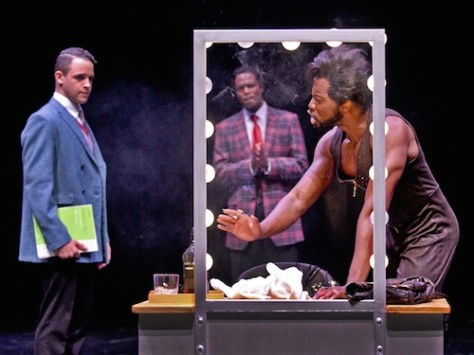 Clinton Greenspan as C.C., Derrick Davis as Curtis Taylor Jr., and Eric LaJuan Summers as Jimmy Early. Photo by Karen Almond