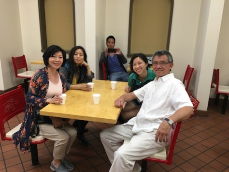 From the set of FOR IZZY (l-r) Elizabeth Sung, Michelle Ang, Alex Chu, Jenny Soo and Jim Lau. Photo courtesy of Elizabeth Sung