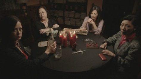 Julia Nickson, Amy Hill, Tamlyn Tomita and Elizabeth Sung in THE UNBIDDEN