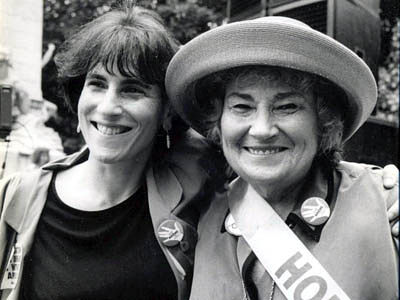 Liz Abzug and her mother, Bella Abzug.