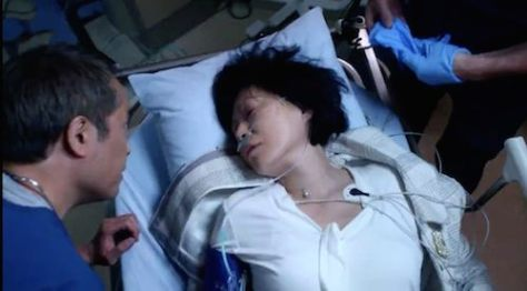 "(l-r) Ken Leung as Dr. Topher Zia and Elizabeth Sung as Sumei Zia on NBC's ""The Night Shift""."
