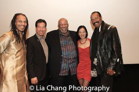 "Oso Tayari Casel, Peter Kwong, Mike Hodge, Lia Chang and Fred ""The Hammer"" Williamson. Photo by Garth Kravits"