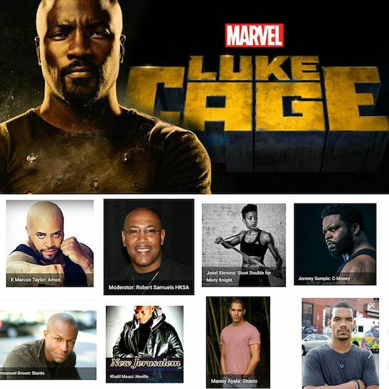 2016 UASE: Behind the Action featuring Marvel/Netflix 'Luke Cage' Cast: Action Stunt & Fight Choreographer Panel on Nov. 12
