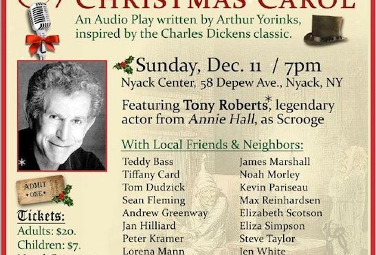Tony Roberts, Kevin Pariseau, Garth Kravits and More Set for Nyack Center's Benefit Reading of A CHRISTMAS CAROL on Dec. 11