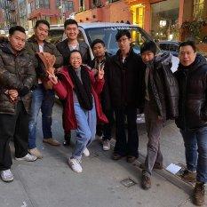Assistant Director Yixin Cen takes control. (L-R) Norman Lam, John Bai, Steven He, Wei Cong Zhou, Ian Woo, Altarius Shu, Grayson Chin, Yixin Cen. Photo by Lia Chang