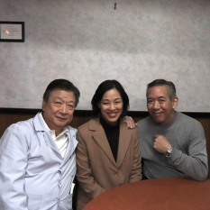 Tzi Ma, Lia Chang, Henry Chang. Photo by Lia Chang