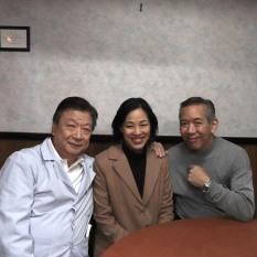 Tzi Ma, Lia Chang, Henry Chang. Photo by Lia Chang