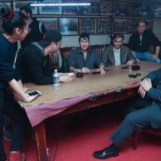 Yixen Cen, Chen Xi Hao, Ken Lin, Joseph Michael Orlando and Ronny Chieng. Photo by Lia Chang
