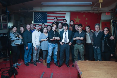 Caption: A Father's Son - Day 3 (L-R) Vera Chow, Yixin Cen, Wing Lee, Henry Chang, Alvin Tsang, Cindy Chen, Glenda Jenks, Justine Onné, Arseniy Grobovnikov, Joey Orlando, Michael Tow, Melody Wong, Jason Chew, Dave Chan, Ronny Chieng, Partick Chen, Ken Lin, Simon Song, Shing Ka, Belen Orsini. Photo by Lia Chang