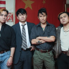 Justice vs Corruption: Joey Orlando, Ronny Chieng, Ken Lin, Simon Song. Photo by Lia Chang