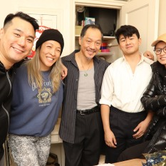 Director Chen Xi Hao, Vera Chow, Perry Yung, Ronny Chieng and Celia Au. Photo by Lia Chang