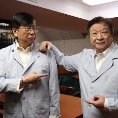 Corky Lee and Tzi Ma. Photo by Lia Chang