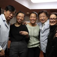Corky Lee, Yixin Cen, Vera Chow, Tzi Ma and Belen Orsini. Photo by Lia Chang