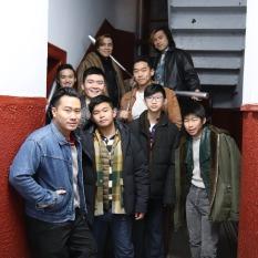 Introducing Wah Ying (70s) and Black Dragons (90s) gangs: (L-R) Norman Lam, Wei Cong Zhou, Ian Woo, Altarius Shu, Steven He, Sean Lau, John Bai. Joey Orlando, Simon Song. Photo by Lia Chang