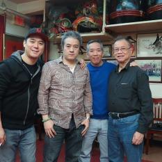 Chen Xi Hao, Shing Ka, Henry Chang and Wing Lee. Photo by Lia Chang
