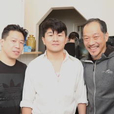 Grayson Chin, Ronny Chieng and Perry Yung. Photo by Lia Chang