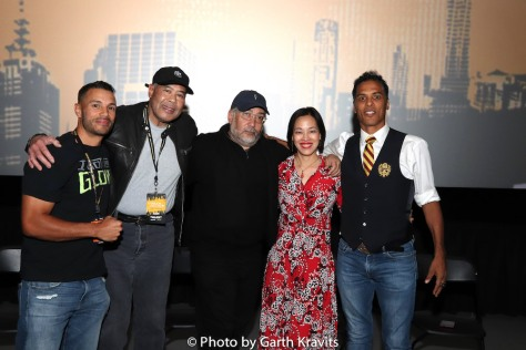 Craig Sutton, Rudy C. Jones, Louis Venosta, Lia Chang, Taimak at the UASE screening of The Last Dragon at The Empire Theaters in New York on November 9, 2019. Photo by Garth Kravits