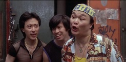 Fredric Mao as Du Yi, Michael G. Chin as Lu Yi and Henry Yuk as Hu Yi in THE LAST DRAGON (1985)