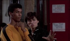 Taimak and Glen Eaton in THE LAST DRAGON (1985)