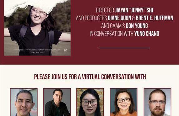 "JAN. 29: CENTER FOR ASIAN AMERICAN MEDIA (CAAM) IN ASSOCIATION WITH MTV DOCUMENTARY FILMS PRESENTS A VIRTUAL Q/A WITH FINDING YINGYING DIRECTOR JIAYAN ""JENNY"" SHI, PRODUCERS DIANE QUON & BRENT E. HUFFMAN IN CONVERSATION WITH DON YOUNG MODERATED BY YUNG CHANG"