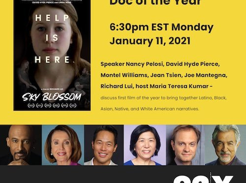 Watch: 92nd Street Y Presents SKY BLOSSOM Screening and Virtual Talk with David Hyde Pierce, Montel Williams, Jean Tsien, Joe Mantegna, and Richard Lui, in Conversation with host Maria Teresa Kumar, featuring a special pre-recorded introduction from Speaker Nancy Pelosi